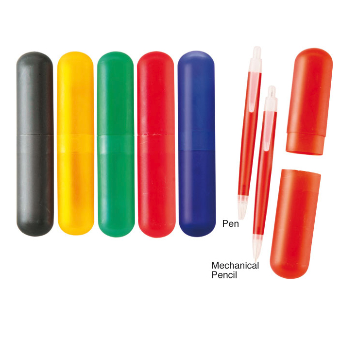 PS-514008 - 6 Colours Stationary Tube Shell with Click Pencil
